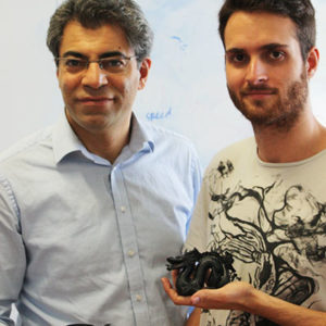 Zarbakhsh Javad 3D Printed parts in hand