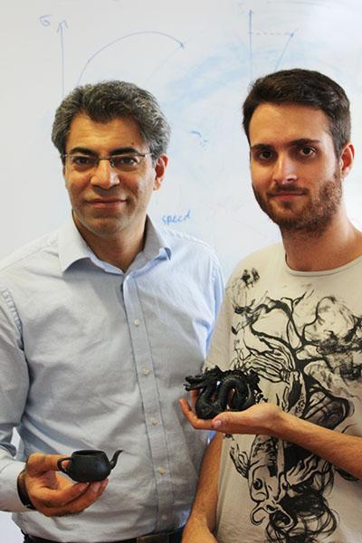 Zarbakhsh Javad 3D Printed parts in hand