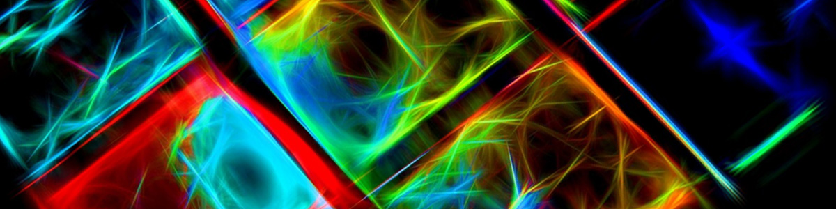 Digital Art Abstract Neon 1200 300
