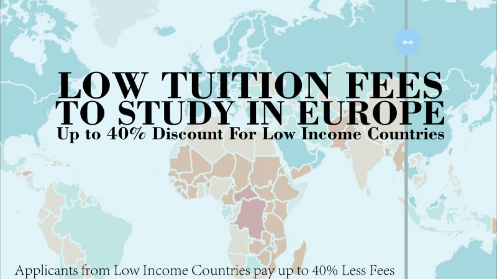 Low Tuition Fees for Study in Europe For Low Income Countries