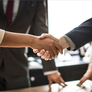 Handshake business partnership