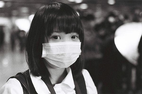 Asian Girl with medical mask