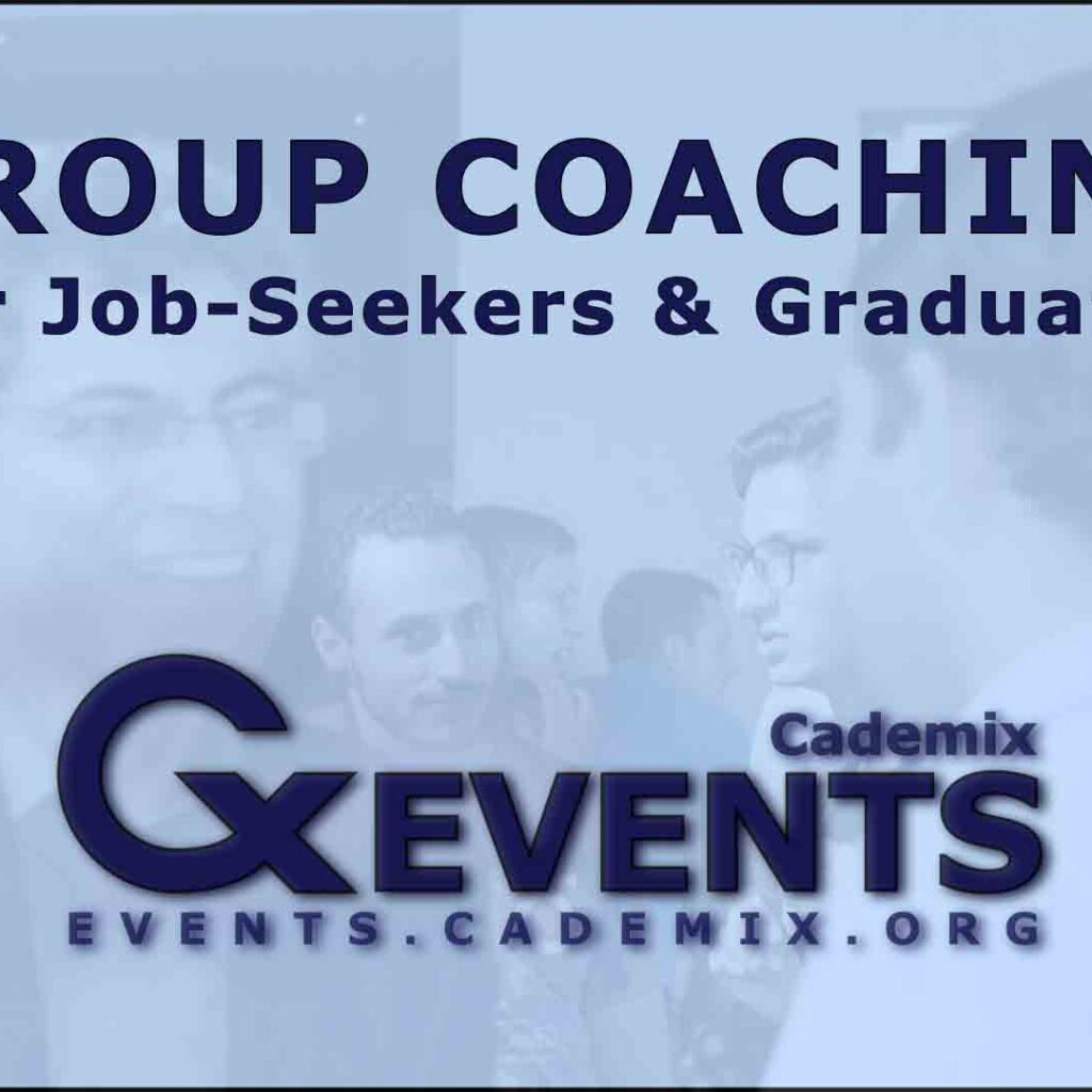 Cademix Event Flyer Group Coaching for Job Seekers and Graduates