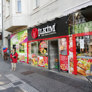 International Fastfood in Vienna Cademix Danube Austria