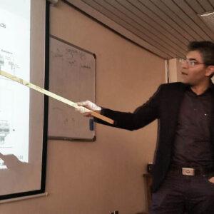 Javad Zarbakhsh talk presenting Arduino Mega Schield IUT Isfahan