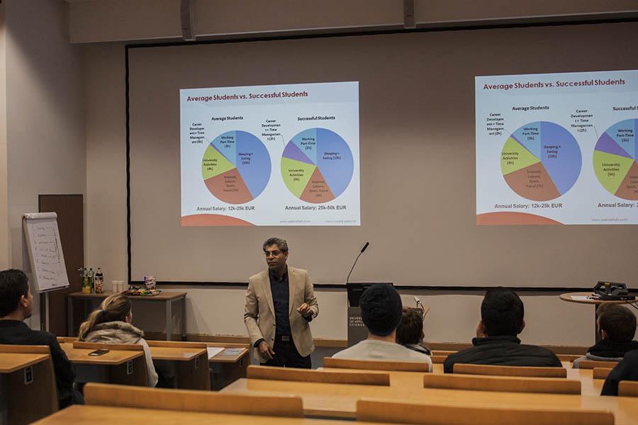Student High salary success average talk study abroad Europe