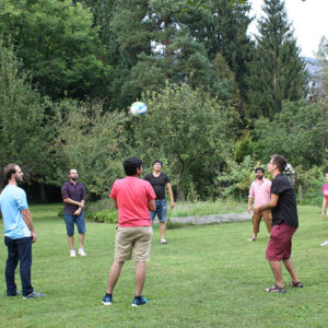 Student Party Playing Volleyball Zarbakhsh Villa Austria