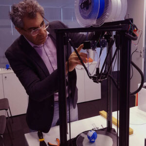 Zarbakhsh inspection Delta Rostock 3D Printer Lab