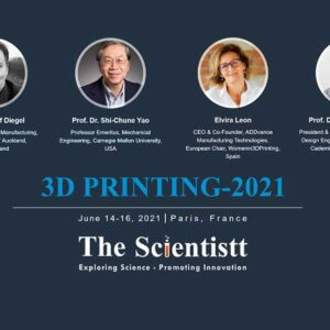 The Scientistt 3DPrinting 2021 Paris France Javad Zarbakhsh