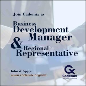 Business development manager and regional representative Join Cademix initiative hiring