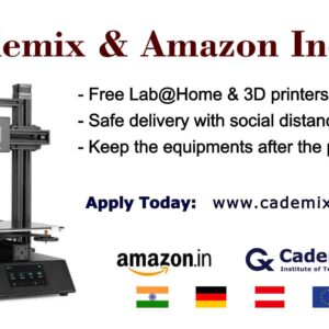 Cademix Amazon India Labathome 3DPrinter Pathway Remote Lab Lockdown offer workathome