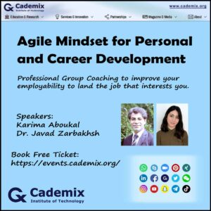 Cademix Event Online Karima Aboukal Agile Mindset for Personal and Career Development