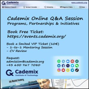 Cademix Event Online VIP Ticket CV Resume Writing Tips