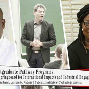 Cademix Landmark University Poster Javad Zarbakhsh Nigeria Austria Pathway Program Europe Study Abroad