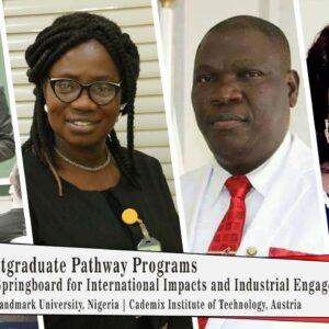 Cademix Austria Landmark University Africa Postgraduate Pathway Programs Javad Zarbakhsh Charity Aremu Adeniyi Olayanju Nigeria Study Abroad Pathway Programs Postgraduate