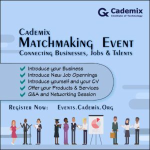 Cademix Matchmaking Event Connecting businesses Jobs and Talents Jobseekers recruiters hiring