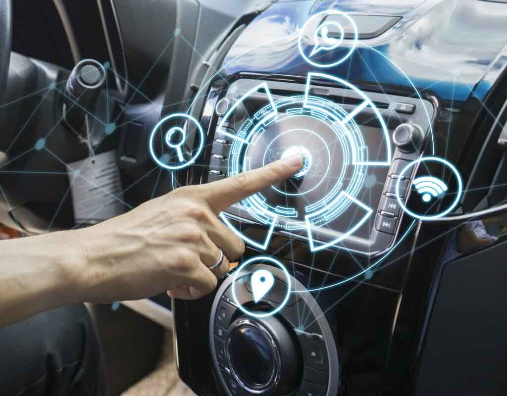 Car Dashboard High Tech AI beyond 2020