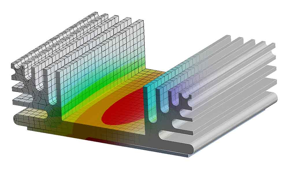 Finite Element Blended Image results of thermal analysis Marketing image