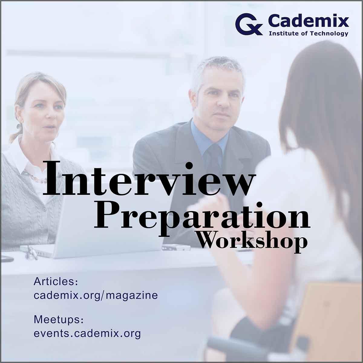 Interview Preparation Workshop Poster