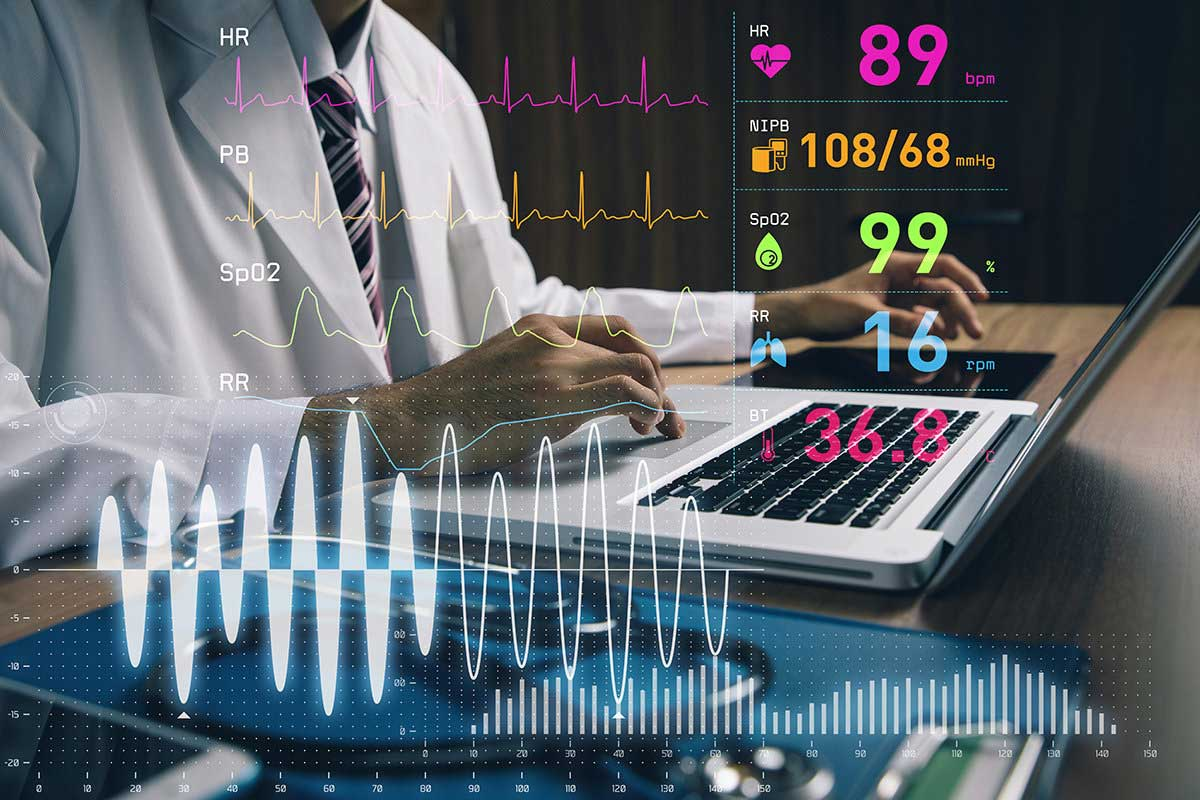 Medical Engineering graph waves compose images monitoring