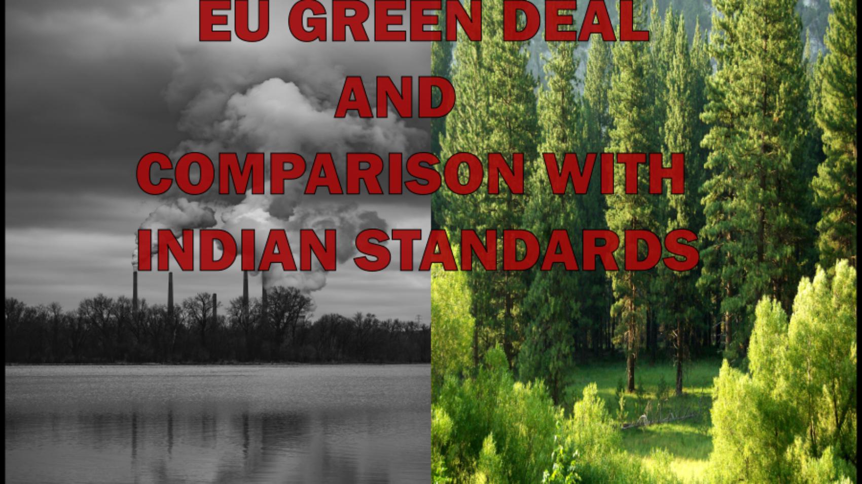 Eu Green Deal India EU Comparison