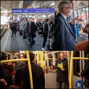 Alexander van der Bellen President of Austria Public Transport Train