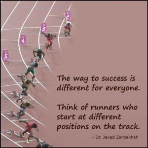 Way to success Runner track Quote Javad Zarbakhsh